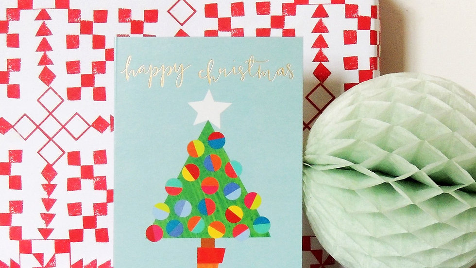 Christmas Tree Christmas Card (Tiddly Widdly 12 x 9 cm)