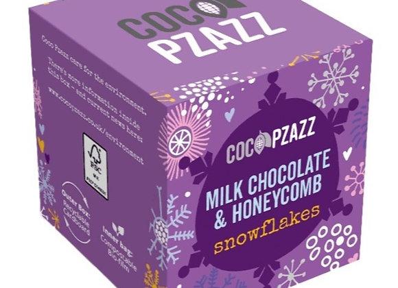 Milk Chocolate & Honeycomb Snowflakes (96g)