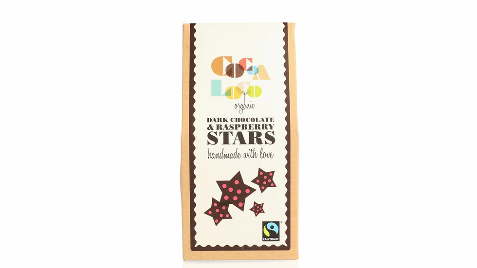 Dark Chocolate & Raspberry Stars (100g)