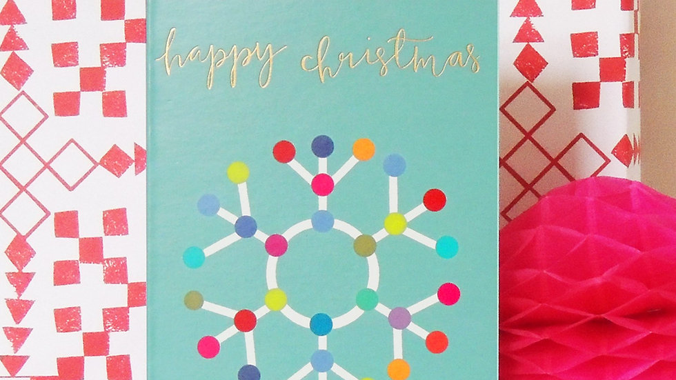 Snowflake Christmas Card (Tiddly Widdly 12 x 9 cm)