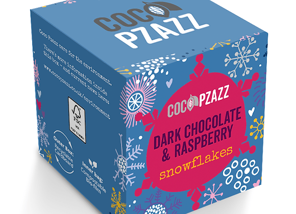 Dark Chocolate & Raspberry Snowflakes (96g) Vegan