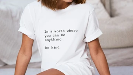"""Be Kind"" Bed Tee"