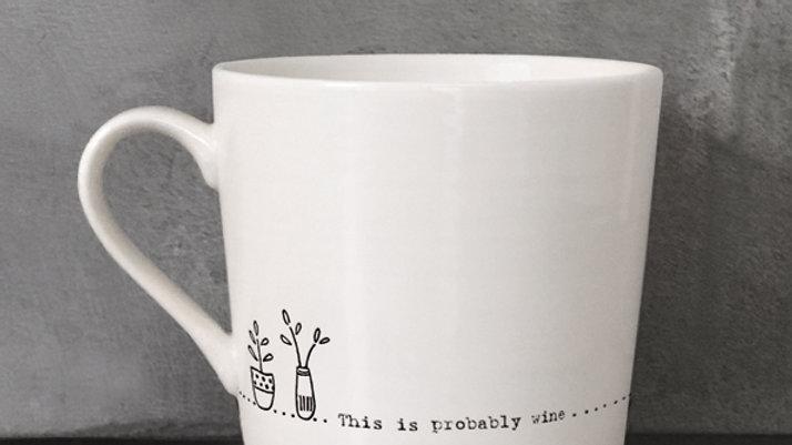 Wobbly Porcelain Mug (Probably Wine...)