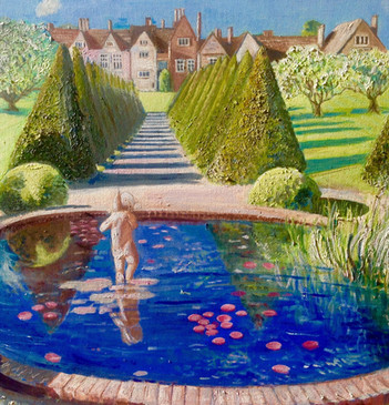 Littlecote Manor - oil on canvas