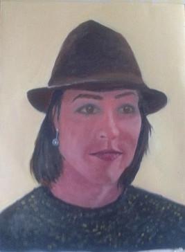 Corinna - Oil on textured paper