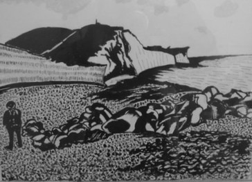 Ovingdean near Brighton - Indian ink