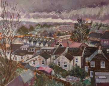View from Osborne Road, Brighton - Oil on canvas