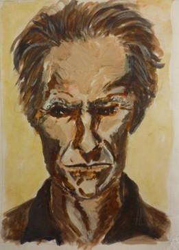 Clint Eastwood - Quink ink