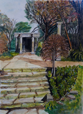 Patcham Peace Garden - A3, watercolour on watercolour paper