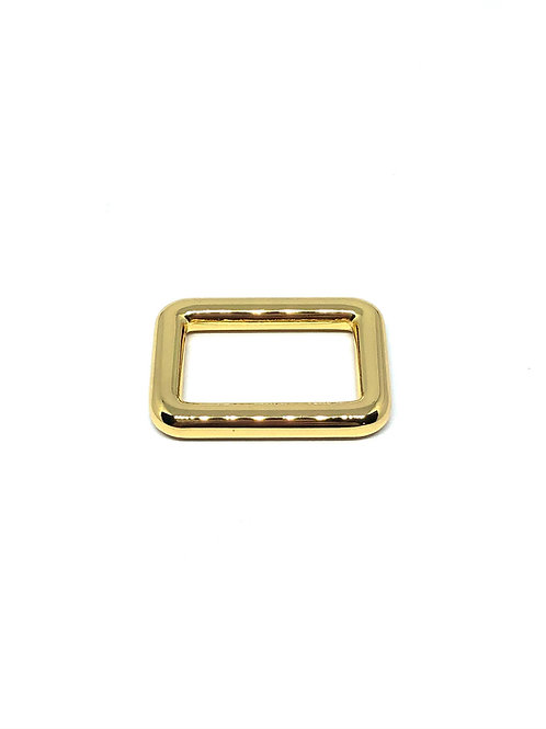 """Gold Rectangle Ring 25mm (1"""") x 15mm (5/8"""")"""