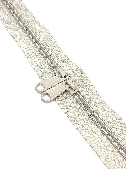 YKK Zipper Tape - Silver Grey 165