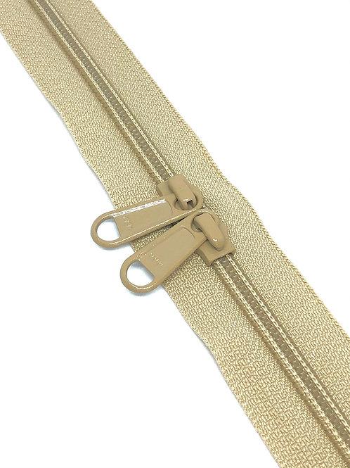 YKK Zipper Tape - Fawn 085