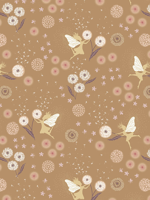 Fairy Clocks on Deep Gold with Gold Metallic (A505.3)