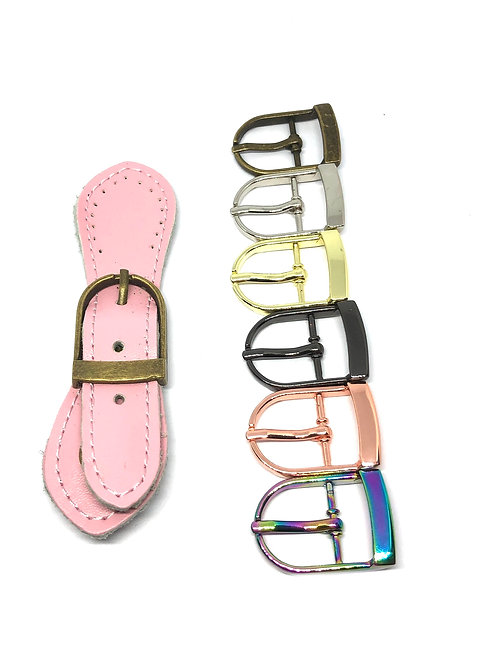 Leather Buckle - Light Pink