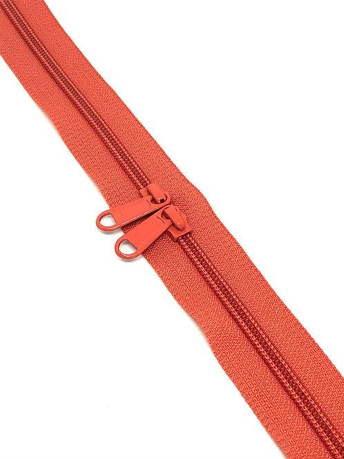 YKK Zipper Tape - Burnt Orange 060