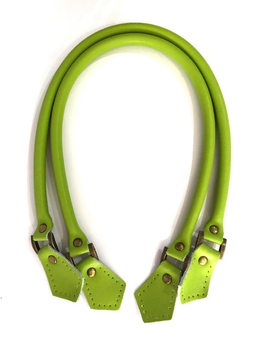 Leather Handles - Lime Green