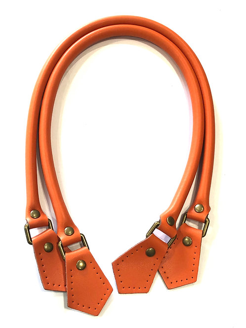 Leather Handles - Orange