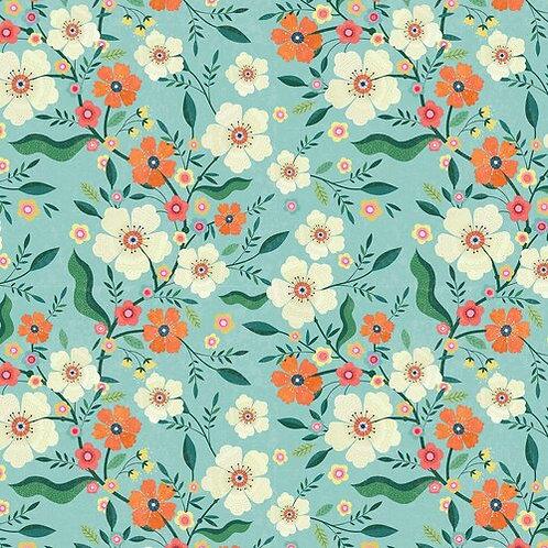 Floral - Duck Egg - Dashwood Studio (HEDG1839)