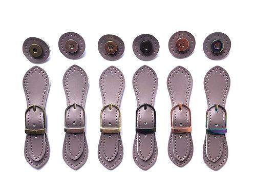 Leather Buckle - Dusky Lilac