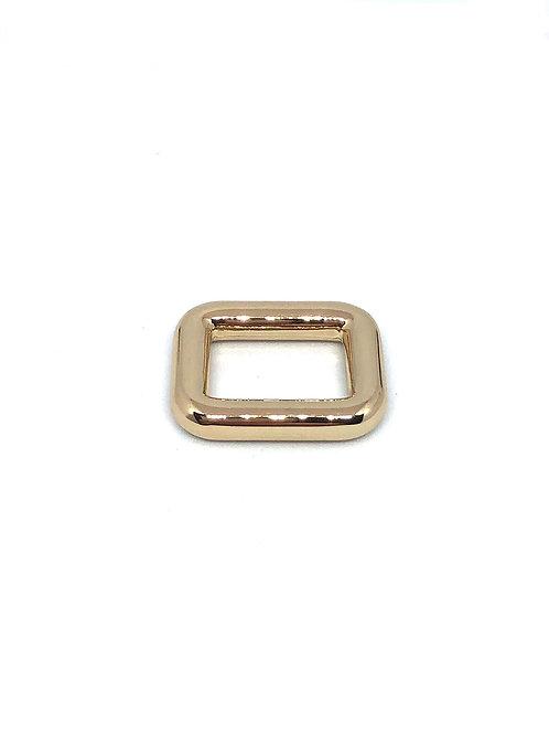 "Light Gold Rectangle Ring 15mm (5/8"") x 11mm (3/8"")"