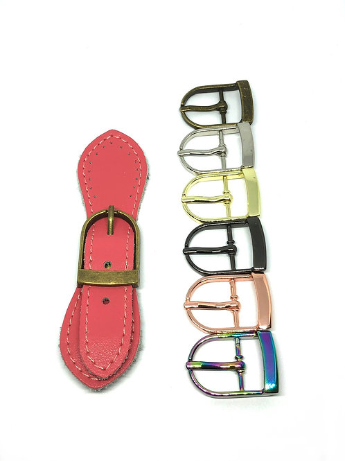 Leather Buckle - Coral