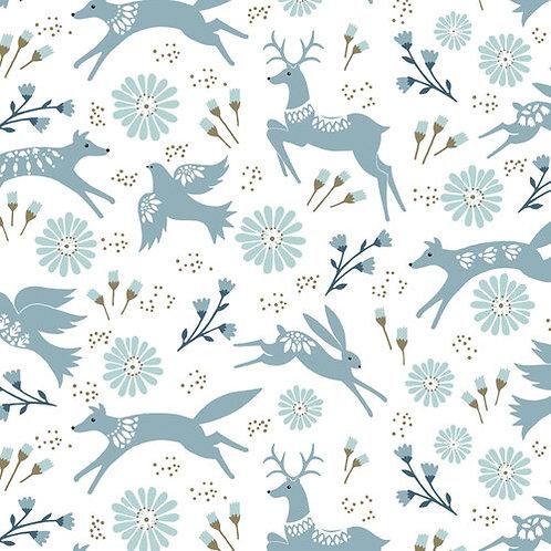 Woodland Animals - White - Dashwood Studio (SHOL1686)