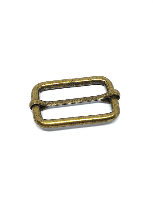"Antique Brass Rectangle Sliders 32mm (1.25"")"