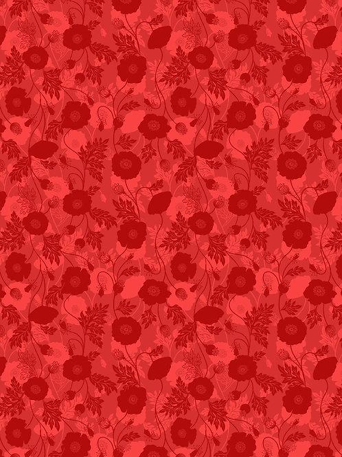 Poppy Field on Red (A555.2)