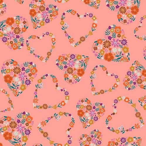 Pinky Peach Floral Hearts - Dashwood Studio (GOOD1857)