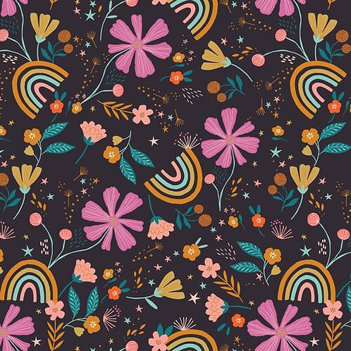 Black Floral Rainbow - Dashwood Studio (GOOD1855)