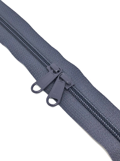 YKK Zipper Tape - Pewter 224