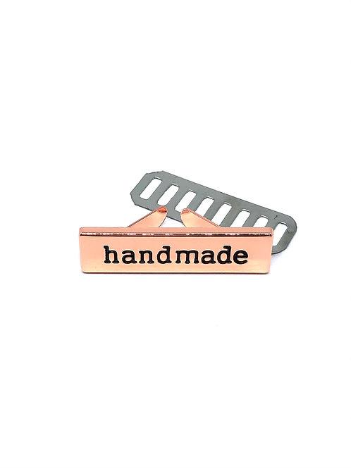 Rose Gold Handmade Bag Label