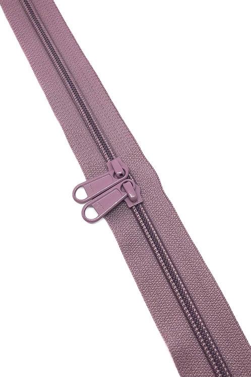YKK Zipper Tape - Dusky Lilac 206