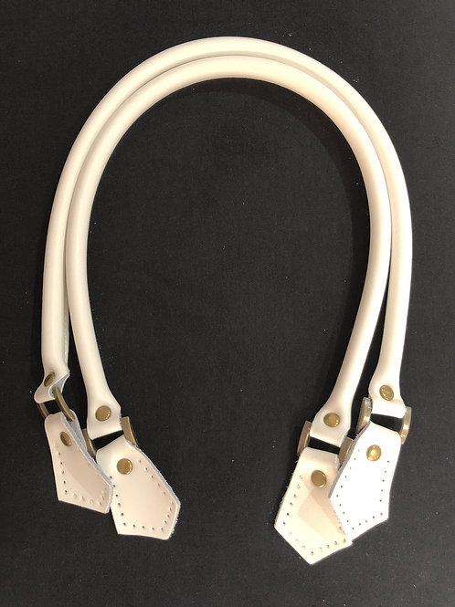 Leather Handles - White