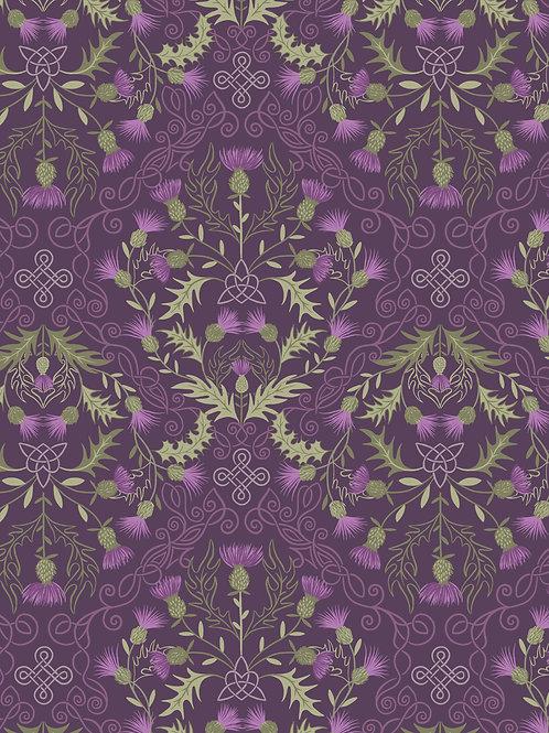 Thistle on Dark Purple (A541.3)
