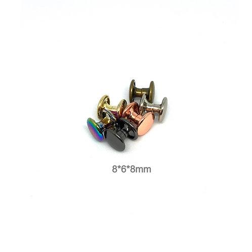 Rivets - 8mm Cap 6mm Post