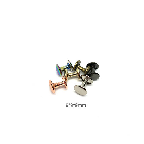 Rivets - 9mm Cap 9mm Post