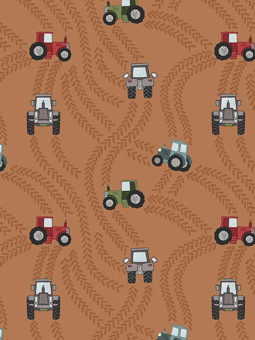 Tractor Trails on Rust (A533.2)