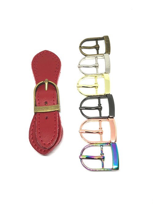 Leather Buckle - Red