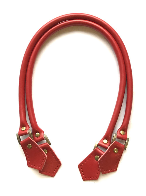 Leather Handles - Red