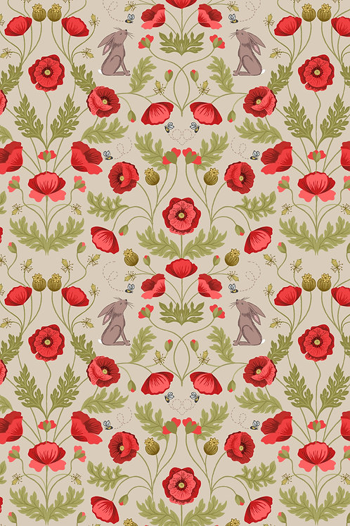 Poppy and Hare on Natural (A557.2)