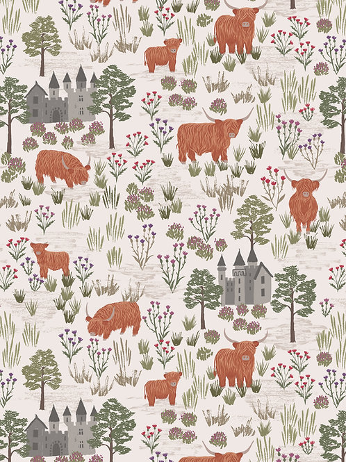 Castles and Cattle on Dark Cream (A538.1)