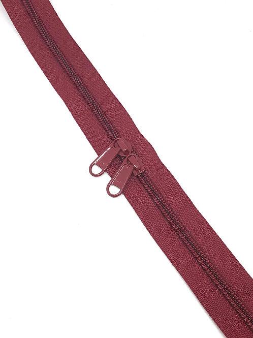 YKK Zipper Tape - Wine Red 273
