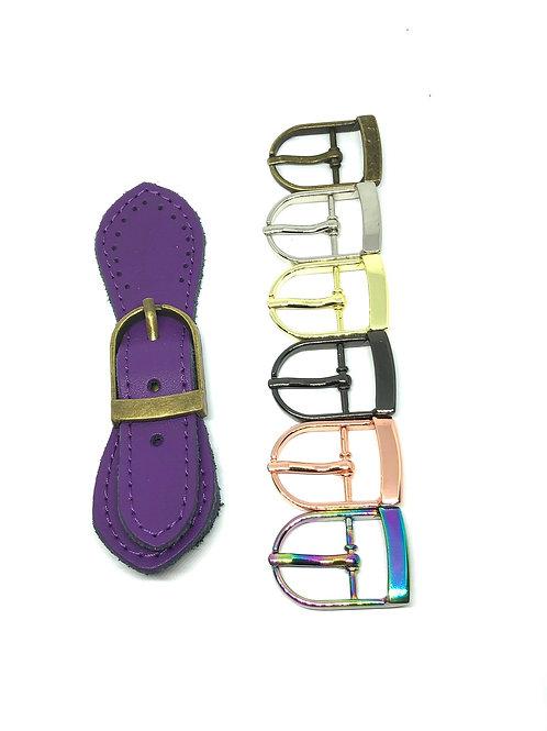 Leather Buckle - Violet