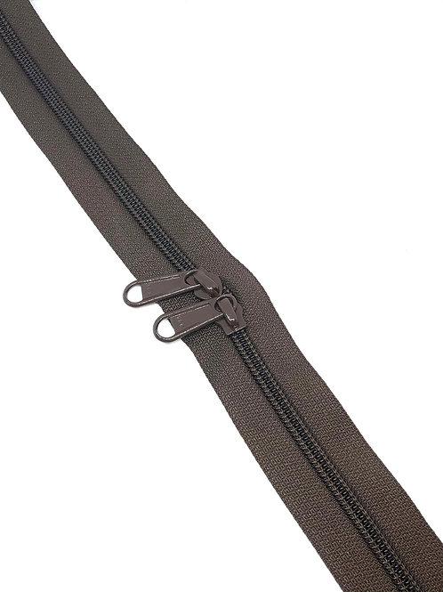 YKK Zipper Tape - Dark Chocolate 868