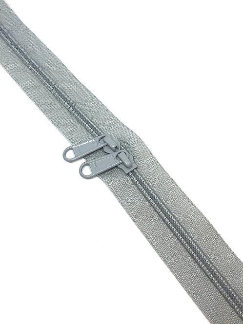 YKK Zipper Tape - Light Grey 329