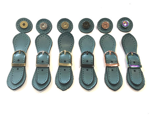 Leather Buckle - Air Force Blue