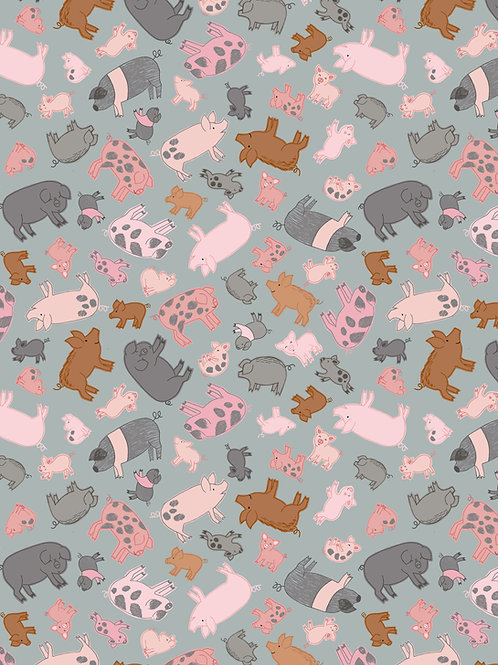 Piggies on Grey (A534.2)