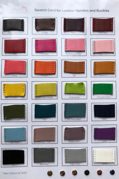 Colour Swatch Card for Leather Handles and Buckles
