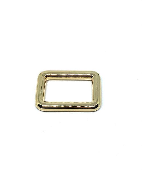 "Light Gold Rectangle Ring 25mm (1"") x 15mm (5/8"")"